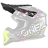 O'NEAL | Visera de Repuesto para el Casco de Motocross | Motocross MX | Visera de Repuesto para el Casco 2SRS Synthy | Visor 2SRS Casco Synthy Juvenil | Niños | Amarillo Rosa