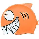 Tintec - Gorro de natación para niños (silicona), diseño de pez