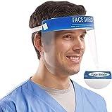 X10 - Visera protectora de seguridad de Francia a través de DHL - Visera transparente con tapa antiniebla para proteger los ojos y la cara para cocina de laboratorio al aire libre