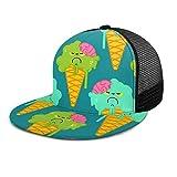 RTBB moda plana malla béisbol sombreros hielo Monster 3D Hip-Hop gorras para deportes