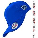 88-FLEX Gorra de Béisbol para Hombre Mujer - Regalo Llavero - El Mejor Baseball Cap Flex Fit Strech Back Apoyo - Algodón - Nueva Classica Modelo Urban Moda Vintage Trucker - Azul