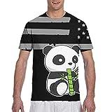 Playeras para hombreCute Panda Dibujo Camisetas de Manga Corta Camiseta con Cuello Redondo