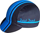 Gorra Ciclista Ekeko Fast Track vsystem Poliester microperforado. Talla Unica con Goma de Ajuste Trasera (Azul)