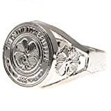 Celtic F.C. Silver Plated Crest Ring Large