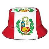 Gorro De Pescador para Mujer,Gorra De Sol,Sombrero Pescador,Bandera De Perú Hombres Sombreros De Pescador para Mujer Sombrero Boonie Sombrero De ala Ancha