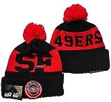Gorra de Rugby Unisex Invierno Sombrero Gorra - Fútbol Americano Beanie Hat Bobble para al Aire Libre Caps de esquí de Camping 8-One Size