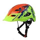 Exclusky Casco Bicicleta Niños Casco Infantil para BMX, Patinaje, Ciclismo, Monopatín, Scooter - Tamaño 50-57cm (Edades 5-13) (Naranja)