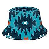 Sombrero de Pescador de patrón de nativos Americanos Sombreros de Copa Transpirables de Tapa Plana Sombrero de Sol de Moda Unisex Verano