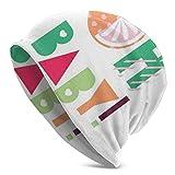 Peeeenny Beeen Beanie Men Women - Caligrafía de Estilo de Arte Plano Oh Frase de bebé con Coloridos Adornos geométricos Retro Gorro de Punto de Calavera