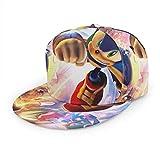 Ewtretr So-nic Boom So-nic The Hedgehog Hombres Mujeres Anime Popular Snapback Sombreros, Plano Ajustable Bill Baseball Hip Hop Gorra Sublimated All Over Print Hat