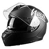 Westt Storm X Casco de Moto Integral con Doble Visera - Negro Mate Certificado ECE