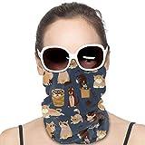 XCNGG Lindo Gatos Patrón de la cubierta Bandanas para Mujeres Hombres Cuello Polaina Mitad Multifuncional Headwear para el Polvo al aire libre Deportes Bufanda Negro