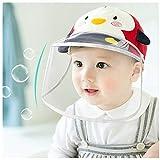 sombrero de Protección, al aire libre gorra con visera desmontable de los Niños sombrero, resistente al agua, a prueba de polvo, anti-UV gorra con visera (48-50cm, conveniente para 1-2 años de Edad)