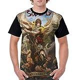 maichengxuan Camisetas para Hombre Soulfly Archangel Impreso de Manga Corta con Cuello Redondo Camisetas Deportivas clásicas