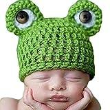 Newin Star Gorro de Ganchillo de Linda Rana,Atrezzo fotografia,Sombrero de bebé Hecha a Mano,Regalo para Bebé recién Nacido