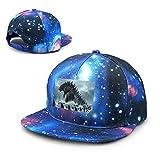 Unisex Godzilla-King Galaxy Algodón Hip Hop Snapback Sombrero de ala Plana Gorras de béisbol para papá Adulto Azul