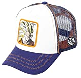 Capslab Son Goku Super Sayajin Trucker Cap Dragon Ball Z White/Blue - One-Size
