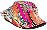 Sombreros de Cubo Transpirables con Parte Superior Plana Unisex Moon Starry Bucket Hat Summer Fisherman Hat-Purple Animal Print-One Size