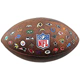 Wilson WTF1758XBNF32 Pelota de fútbol Americano JR Throwback 32 Team Logo con los Logos de la NFL, para niños y Adolescentes, Marrón, Talla Única