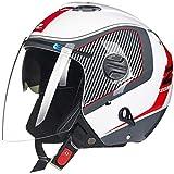ZHXH Cascos protectores cara abierta para motocicletas, casco Harley Chopper para motocicleta con visera y gafas de certificación integradas Casco jet de verano