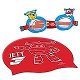 Super Wings Gorro y gafas natación infantil (Colorbaby 77018)