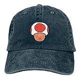 RFTGB Gorras Unisex Accesorios Sombreros Gorras de béisbol Sombreros de Vaquero Trump Toad Denim Baseball Cap, Unisex Vintage Dad Hat, Golf Hats, Adjustable Plain Cap