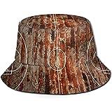 Baobei-shop Ladrillo Sucio Cancha de Baloncesto Unisex Sombrero de Cubo Sombrero de Pescador de Tapa Plana Gorra de Sol al Aire Libre