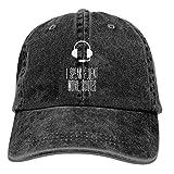 Gorra de béisbol LUXNG con frase en inglés «I Speak Fluent» para hombre y mujer, color negro