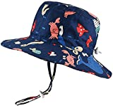 DRESHOW Sombrero para Bebes Niña Niño UPF 50+ - Gorro Verano de Sol Gorra Bucket Hat con ala Lindo Cartoon