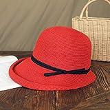 Gorra de Visera Cuenca del parasol sombrero de paja femeninos retro plegable Sombrero literaria Pescador sombrero simple sombrero for el sol sombrero fresco Ocio Gorro de Pesca Gorra de Protección Sol