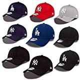 New Era 39thirty Gorra New York Yankees Los Angeles Dodgers en el Bundle con UD CALAVERA PAÑUELO en Muchos Colores - #08 LA Dodgers, Medium / Large