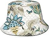 Elementos de Adorno japoneses Tapa Plana Sombrero de Pescador Unisex Gorras al Aire Libre para Viajes Playa Protección Solar Gorra de Pescador Elementos de Adorno japonés Sombrero de Cubo Sombrero de