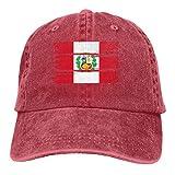 Gorras de béisbol de Mezclilla teñidas con Hilo Ajustable para Hombres y Mujeres Gorra de Hiphop con Bandera de Perú