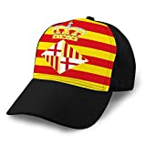 Gorra de Hip Hop Plana Bill Unisex Gorra de béisbol Gorros Gorros de Camionero de algodón Bandera de Barcelona en españa Sombreros Unisex