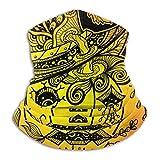 AOOEDM Los sombreros de calabaza son graffitis rojos y naranjas para celebrar Halloween Cuello más cálido Bufanda de tubo de esquí de invierno Pañuelos faciales a prueba de viento Pañuelos faciales p