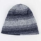 Xme Nuevos Sombreros de Punto degradados, Gorros cálidos para Hombres, Sombreros de Hip-Hop Hip-Hop