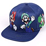 Mario Sombrero Gorras Sombreros Planas Chapeau Flat Bill Hip Hop Snapbacks Caps For Men Women Unisex