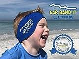 Ear Band-It Diadema de natación (retener el Agua, Sujetar Tapones para los oídos) Recomendado por el médico y protección contra el Agua Grandes (Mayores de 10 años y Adultos) Azul