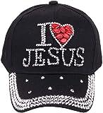 HANJINYU Gorra De Béisbol,Unique Spring Summer Ladies Fashion Creative Jesus Letters Diamond Gorra De Béisbol Casual Outdoor Wild Hip Hop Sun Hat B