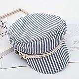 sdssup Sombrero de ala Plana Bordado Versión Coreana de la Gorra de béisbol Gorra Pescador Hip-Hop Hip-Hop Sombrero Blanco XL (60 cm o más)
