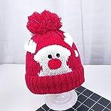 Xme Sombrero de Lana para bebé de otoño e Invierno, Gorro cálido de Terciopelo para niños, Gorro navideño de Punto Infantil