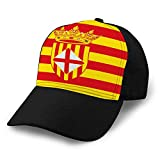 Gorra de Hip Hop Plana Unisex con Gorra de béisbol Gorra de béisbol Sombreros de algodón Sombreros de Camionero Bandera de Barcelona es una Provincia de España Sombreros de Golf