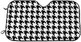 Parabrisas de Pata de Gallo en Blanco y Negro Protector de Visera Protector de Visera Sombrillas Cubre Toldos- Ajuste 51 X 27.5 Pulgadas