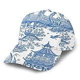 Gorra de béisbol azul chino estilo chino Snapback Sombreros Unisex Trucker Hat Hip Hop Plaid Flat Gorra de béisbol ajustable