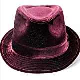 W.Z.H.H.H Sombrero Sombrero de Mujer Sombrero de Copa de Invierno para Mujer Mantiene la Gorra de Jazz de Moda cálida Gorras de Moda (Color : Red, Size : M)