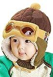 Tuopuda® Gorros Bebé Niño Niña Invierno Sombrero Piloto Tejer Earflap Sombreros (marrón)