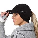 TrailHeads - Gorro de lana con calentador de oídos desplegable para mujer -  Negro -  Talla única