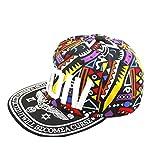 Gorra De Béisbol Unisex De Hip Hop De Dibujos Animados De Algodón Streetwear Graffiti Totems Imprimir Hip-Pop Hat Para Hombres De Las Mujeres