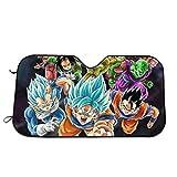 Drew Tours Visera para Parabrisas Z Goku Vegeta Puede Visera Plegable para Bloquear los Rayos UV, Viseras Plegables para el Sol, Cubierta con 4 ventosas