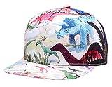NUZADA Sombrero de Sol Estamapdo Dinosaurio para Hombre Mujer Gorra de Béisbol Visera Plano Snapback Cap - Dinosaurio